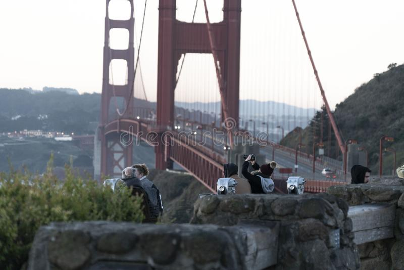 Μια χρυσή έλξη στο Σαν Φρανσίσκο στοκ φωτογραφία