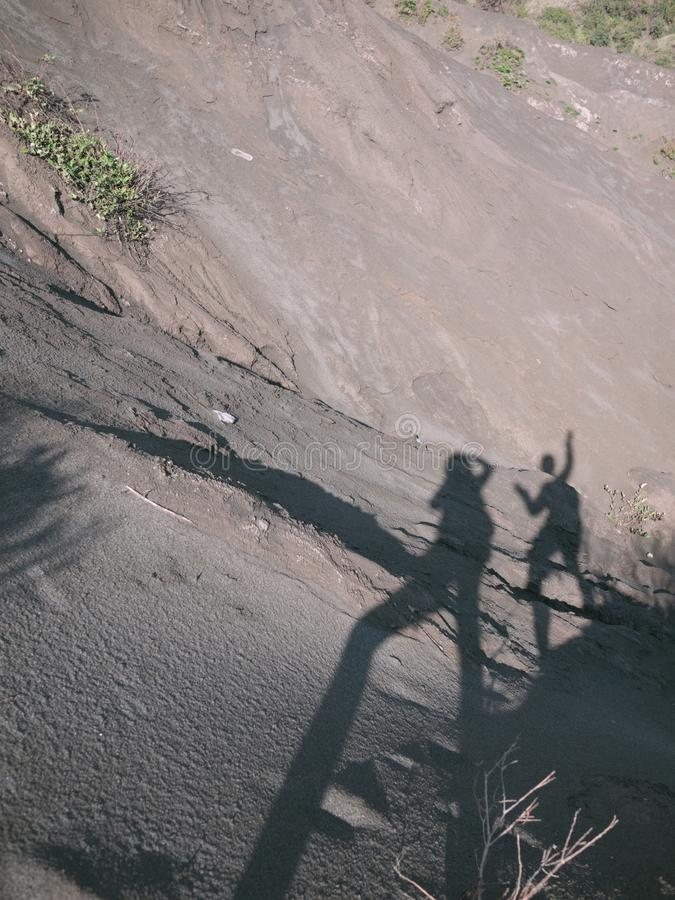 Μια όμορφη άποψη στο βουνό Bromo στοκ φωτογραφία με δικαίωμα ελεύθερης χρήσης