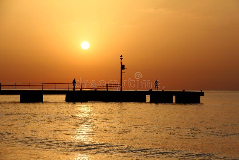 Μια όμορφη ανατολή στο νησί Majorca στοκ φωτογραφία