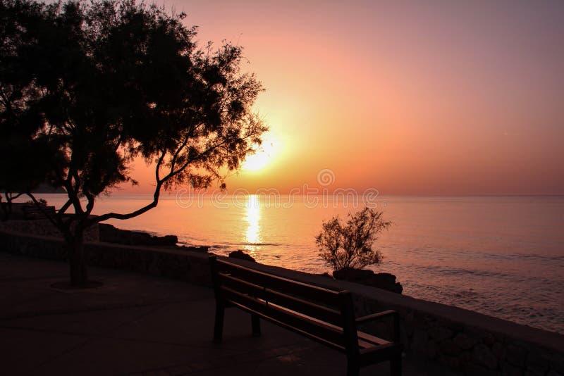 Μια όμορφη ανατολή στο νησί Majorca στοκ φωτογραφίες
