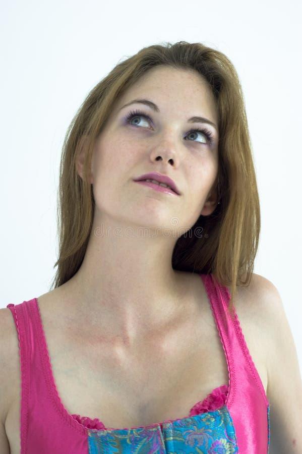 Μια όμορφη σκέψη γυναικών στοκ φωτογραφίες