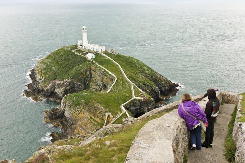 Μια όψη του φάρου νότιων στοιβών, Ουαλία στοκ εικόνες με δικαίωμα ελεύθερης χρήσης