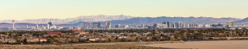 Μια όψη Las Vegas Strip από Summerlin στοκ εικόνα