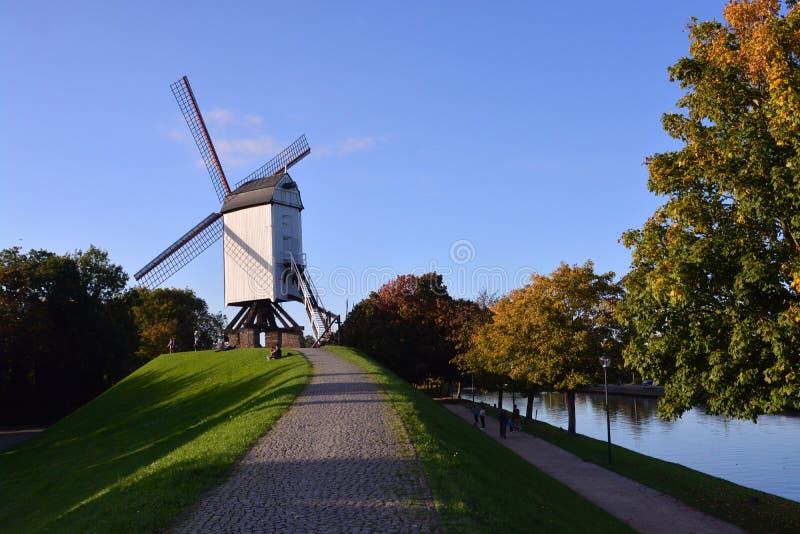 Μια ώθηση να επισκεφτεί η Μπρυζ - το Βέλγιο στοκ εικόνα με δικαίωμα ελεύθερης χρήσης