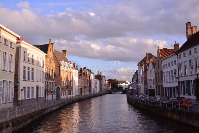 Μια ώθηση να επισκεφτεί η Μπρυζ - το Βέλγιο στοκ εικόνα