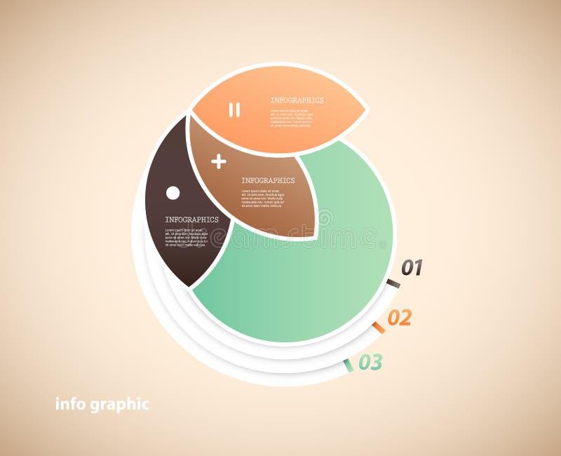 Μια infographic απεικόνιση κύκλων με 3 πέταλα απεικόνιση αποθεμάτων