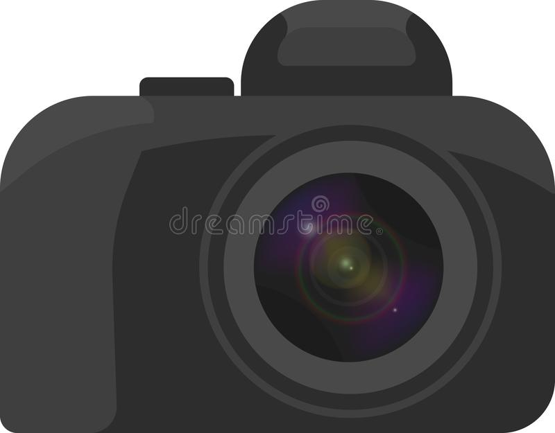 Μια minimalistic εικόνα μιας κάμερας με έναν φακό ελεύθερη απεικόνιση δικαιώματος