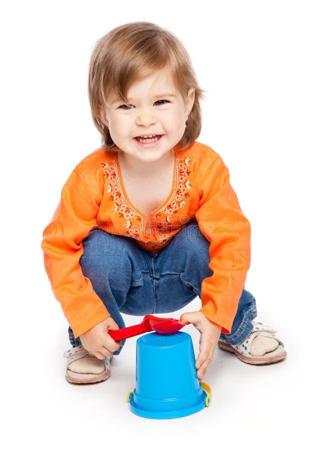 μικρά παιχνίδια κοριτσιών στοκ φωτογραφία με δικαίωμα ελεύθερης χρήσης