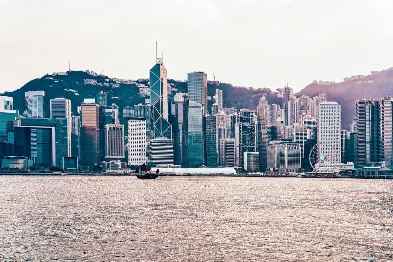 Μικρά παλιοπράγματα στο λιμάνι Βικτώριας του Χονγκ Κονγκ στοκ φωτογραφίες
