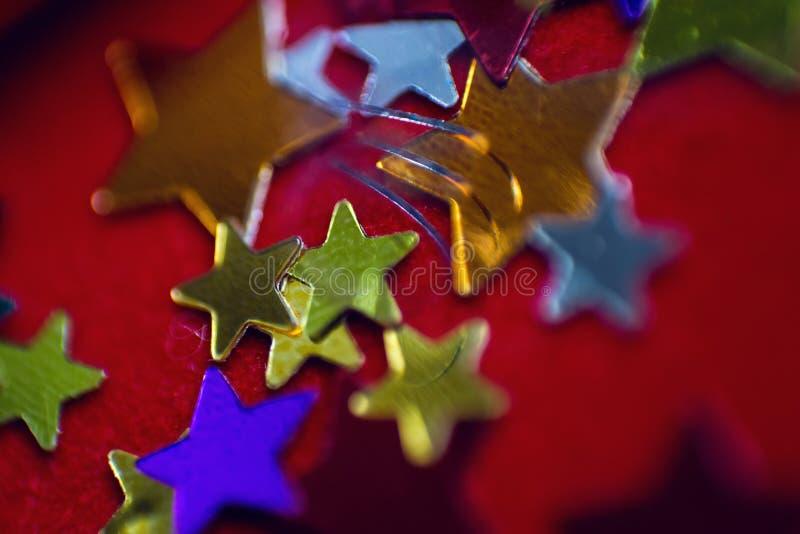 Μικρά πολύχρωμα αστέρια στοκ φωτογραφία