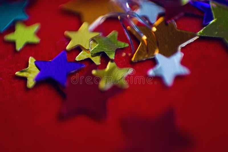 Μικρά πολύχρωμα αστέρια στοκ εικόνες με δικαίωμα ελεύθερης χρήσης