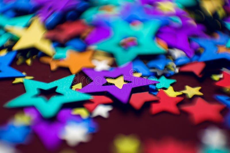 Μικρά πολύχρωμα αστέρια στοκ φωτογραφία με δικαίωμα ελεύθερης χρήσης