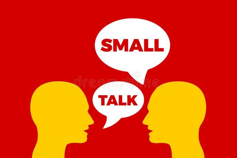 Μικρά συζήτηση/Smalltalk διανυσματική απεικόνιση