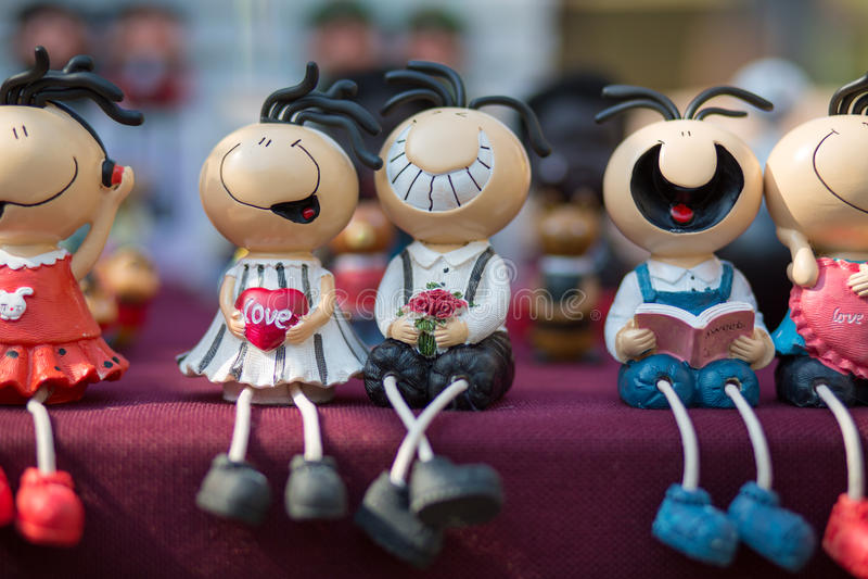 Μικρές αστείες κούκλες, Hangzhou στοκ εικόνες