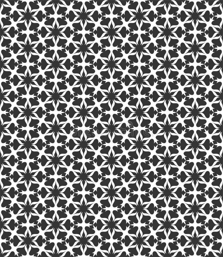 Μικρή απεικόνιση υποβάθρου σχεδίων λουλουδιών στο μαύρο λευκό ν ελεύθερη απεικόνιση δικαιώματος