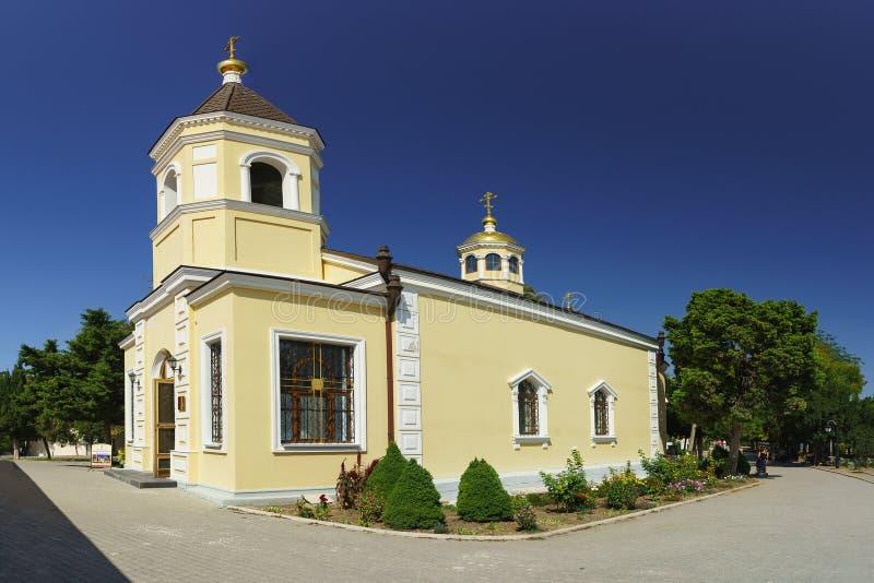 Μικρή εκκλησία πετρών των επτά μαρτύρων του μοναστηριού Chersonese Chersonesos σε Chersonesus Tavrichesky στοκ φωτογραφία