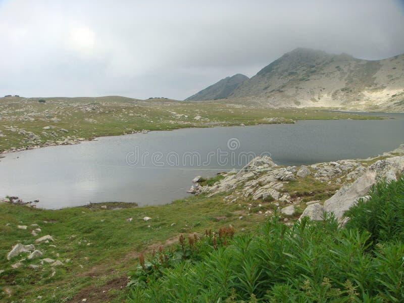 Μικρή λίμνη του ψηλού βουνού στο φυσικό πάρκο του Pirin στη Βουλγαρία στοκ εικόνα