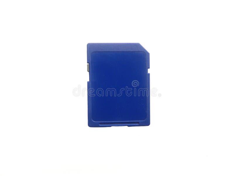 Μικρή μπλε κάρτα μνήμης στοκ εικόνα με δικαίωμα ελεύθερης χρήσης