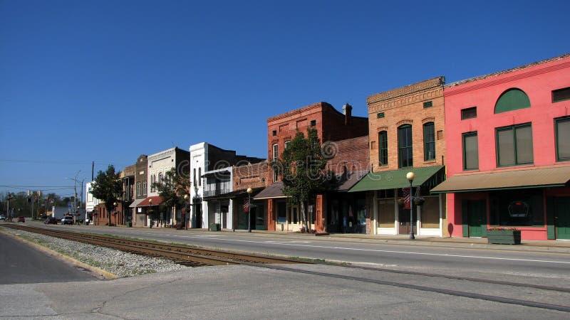 μικρή νότια πόλη στοκ φωτογραφίες