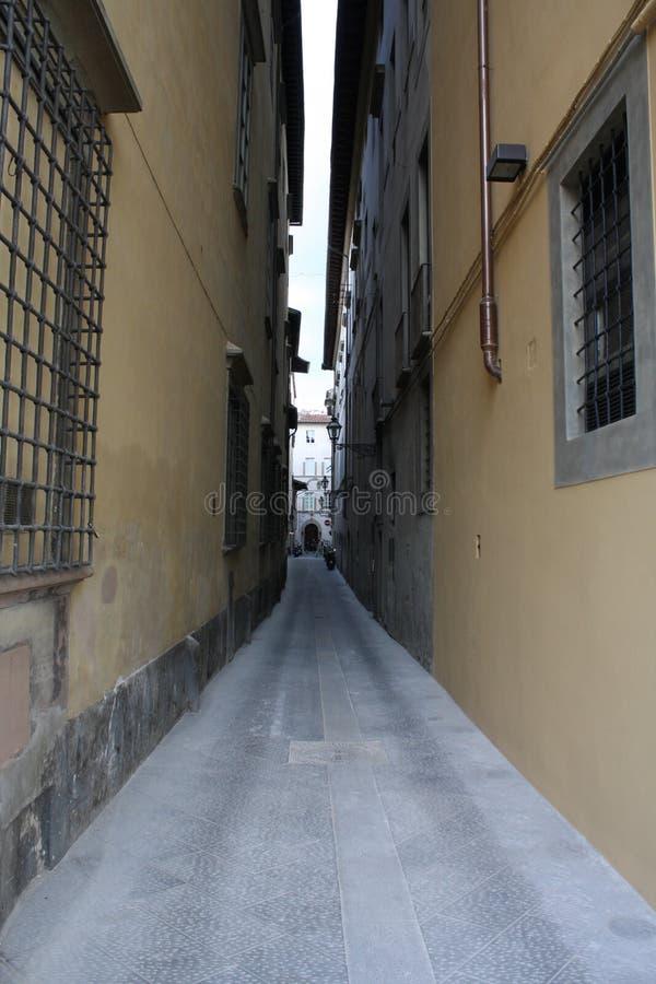 Μικρή οδός σε Florenze Ιταλία στοκ φωτογραφίες