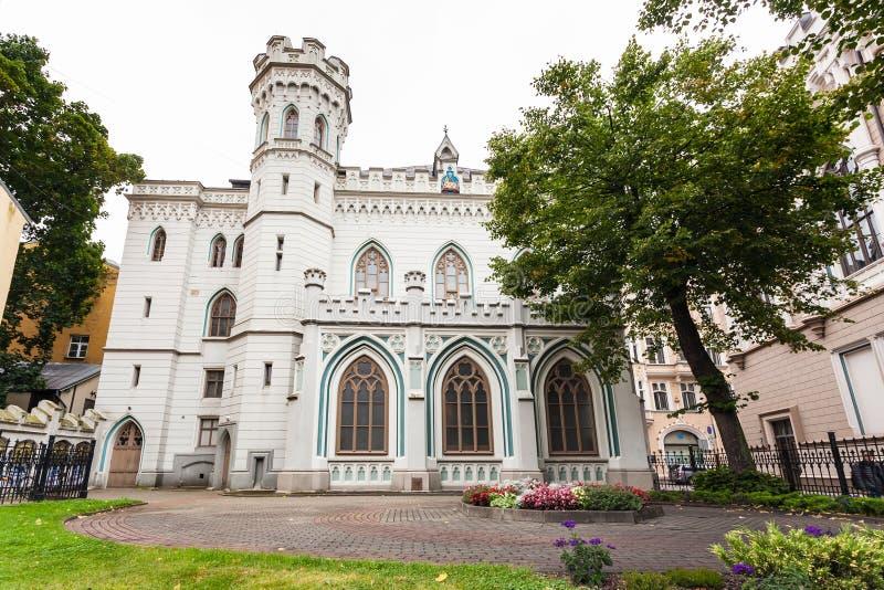 Μικρή συντεχνία κωμοπόλεων ` s παλατιών παλαιά στην πόλη της Ρήγας στοκ φωτογραφίες με δικαίωμα ελεύθερης χρήσης