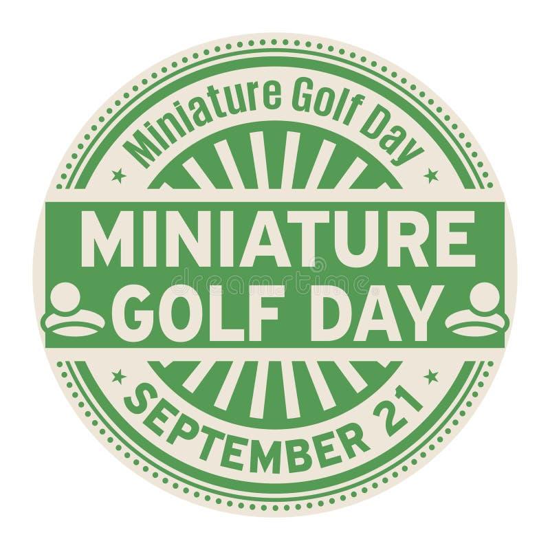 Μικροσκοπική ημέρα γκολφ, στις 21 Σεπτεμβρίου ελεύθερη απεικόνιση δικαιώματος