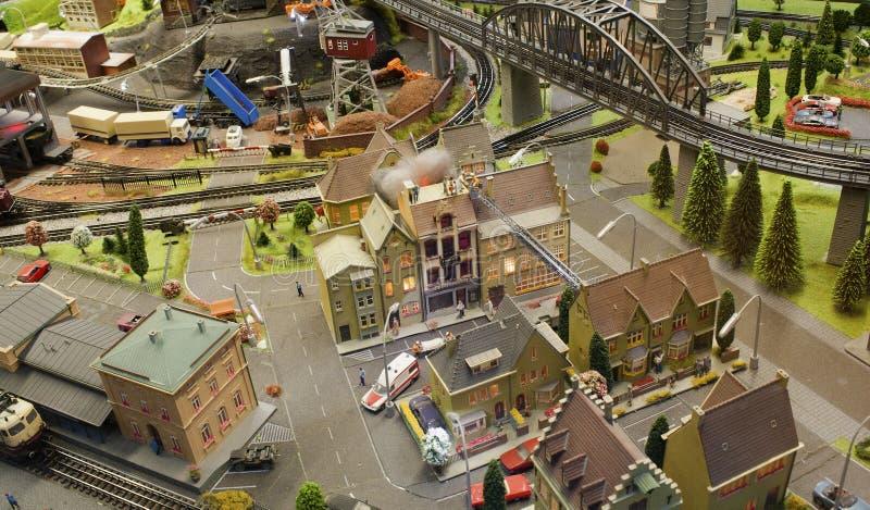 Μικροσκοπική πόλη σκηνής στοκ εικόνες με δικαίωμα ελεύθερης χρήσης