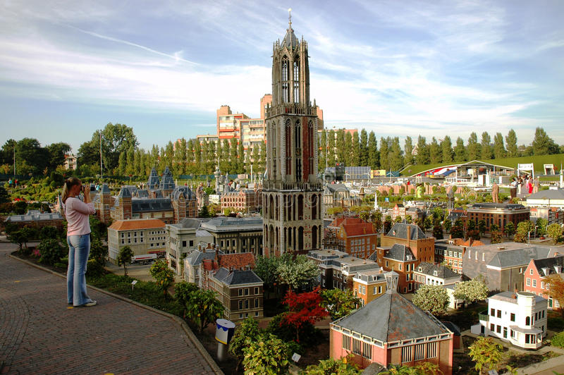 Μικροσκοπική πόλη Madurodam, Χάγη, Κάτω Χώρες στοκ εικόνες με δικαίωμα ελεύθερης χρήσης