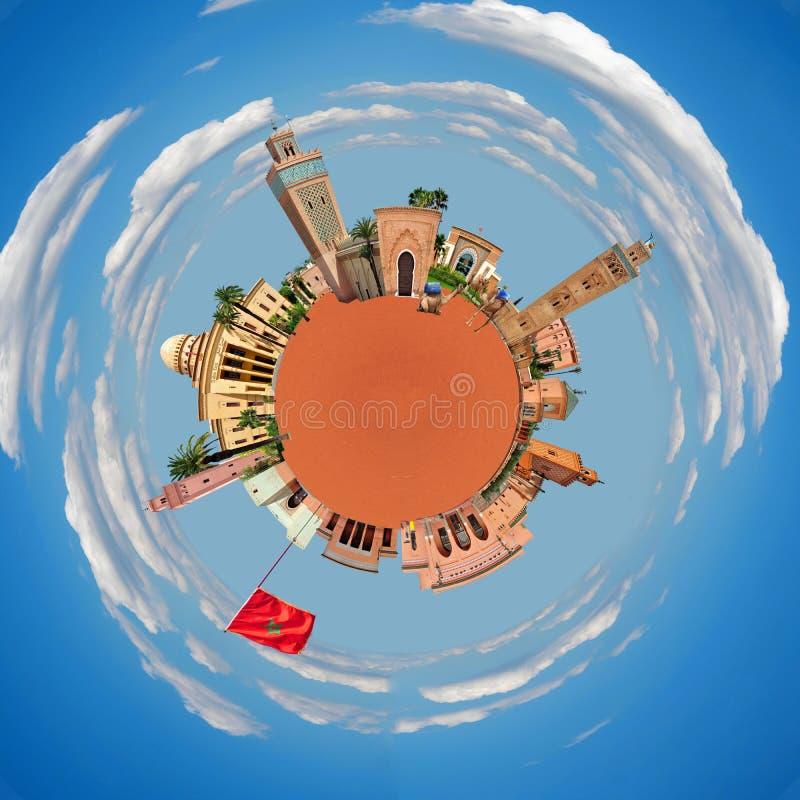 Μικροσκοπικός πλανήτης του Μαρακές στοκ φωτογραφίες με δικαίωμα ελεύθερης χρήσης