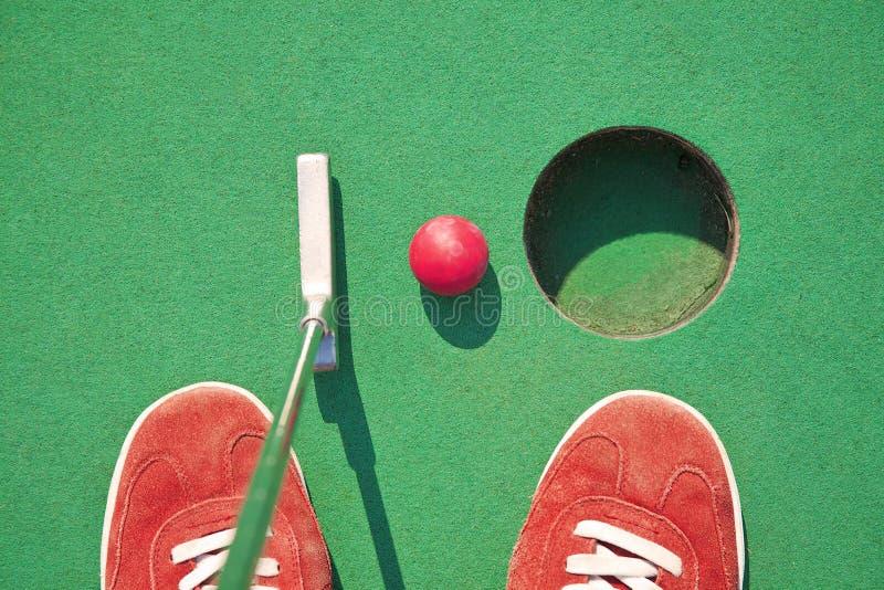 Μικροσκοπικό γκολφ στοκ εικόνες με δικαίωμα ελεύθερης χρήσης
