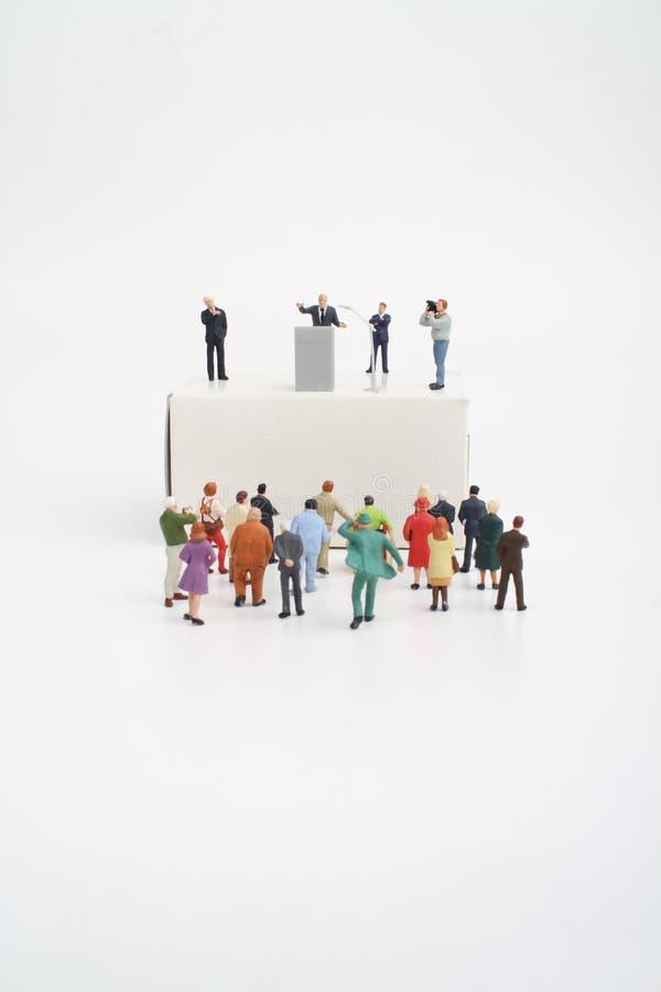 Μικροσκοπικό ειδώλιο ενός πολιτικού κατά τη διάρκεια μιας σύμβασης στοκ φωτογραφίες με δικαίωμα ελεύθερης χρήσης
