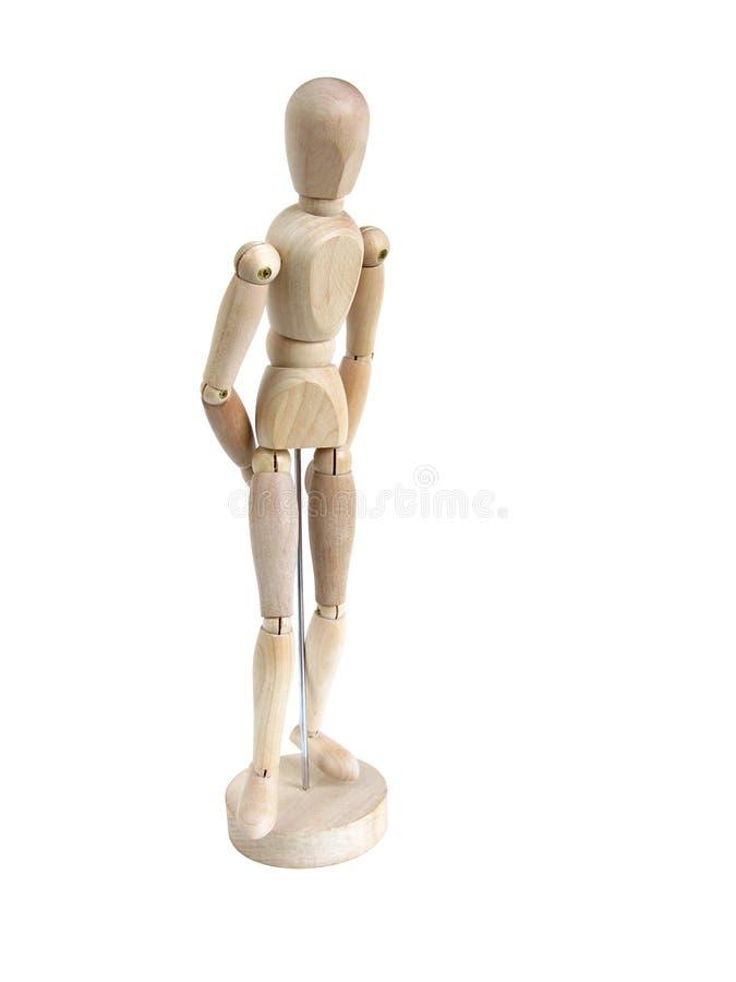 μικροσκοπικό μοντέλο που στέκεται σκεπτικά ξύλινο στοκ φωτογραφίες με δικαίωμα ελεύθερης χρήσης