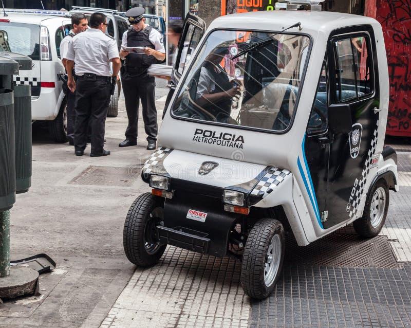 Μικροσκοπικό περιπολικό της Αστυνομίας Μπουένος Άιρες Αργεντινή στοκ φωτογραφίες με δικαίωμα ελεύθερης χρήσης