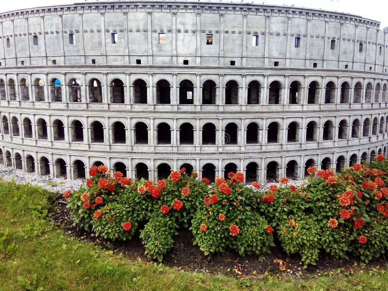 Μικροσκοπικό ρωμαϊκό Colosseum στοκ εικόνες με δικαίωμα ελεύθερης χρήσης