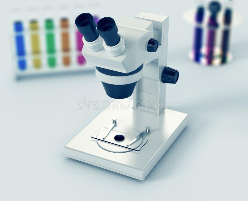 Μικροσκόπιο, έννοια της επιστημονικής έρευνας απεικόνιση αποθεμάτων