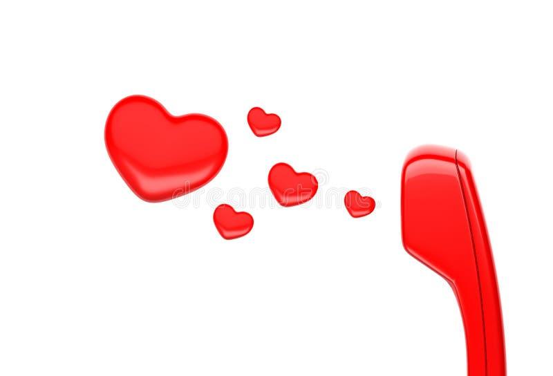 Μικροτηλέφωνο και καρδιά απεικόνιση αποθεμάτων