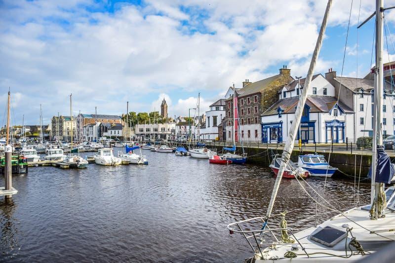 Μικρού χωριού λιμένας του Isle of Man ` s στοκ εικόνες