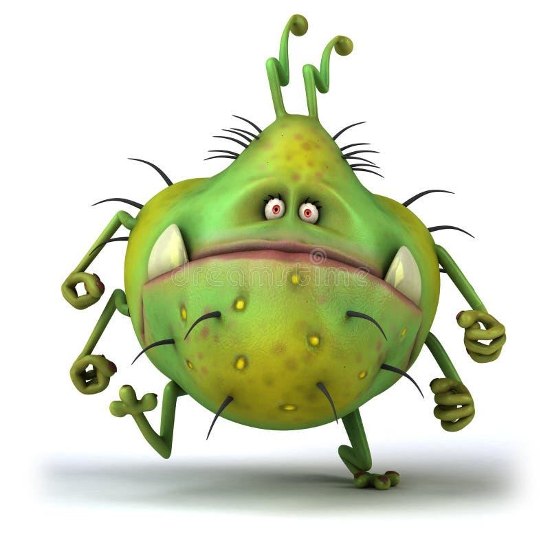 μικρόβιο διανυσματική απεικόνιση