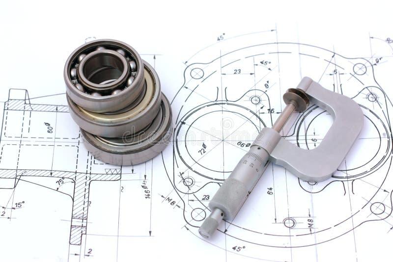 μικρόμετρο ρουλεμάν άνω τ&omega στοκ φωτογραφία με δικαίωμα ελεύθερης χρήσης