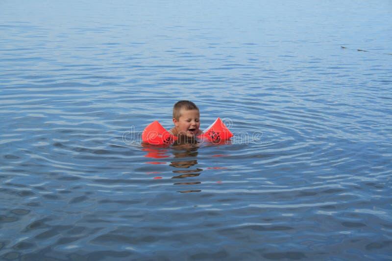 μικρός κολυμβητής στοκ εικόνες
