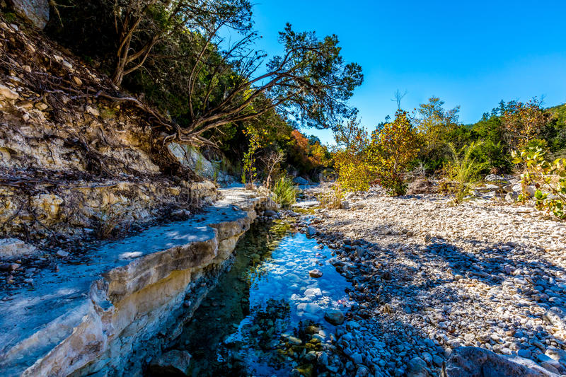 Μικρός κολπίσκος ή ποταμός στο Τέξας στοκ φωτογραφίες με δικαίωμα ελεύθερης χρήσης