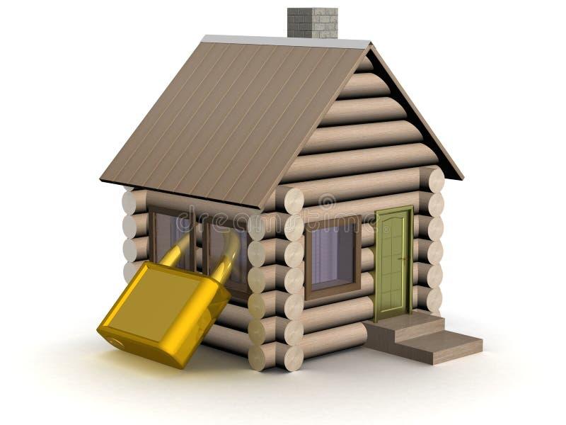 μικρός ξύλινος ασφάλεια&sigma διανυσματική απεικόνιση