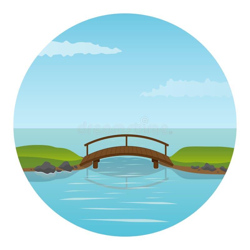 μικρός ξύλινος γεφυρών απεικόνιση αποθεμάτων