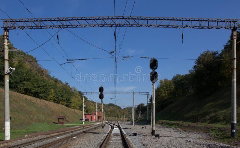 Μικρός σιδηροδρομικός σταθμός στοκ εικόνες με δικαίωμα ελεύθερης χρήσης