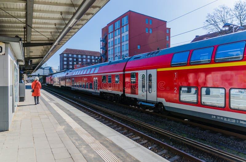 Μικρός σταθμός τρένου του Αμβούργο στοκ εικόνα με δικαίωμα ελεύθερης χρήσης
