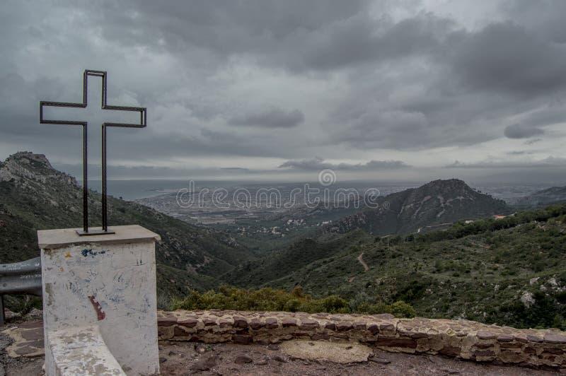 Μικρός σταυρός η άποψη ερήμων στοκ φωτογραφία με δικαίωμα ελεύθερης χρήσης