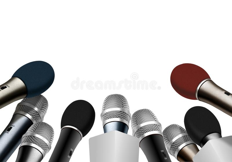 Μικρόφωνα συνεντεύξεων τύπου διανυσματική απεικόνιση