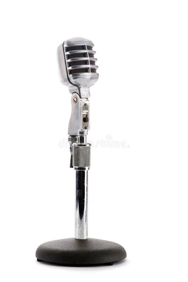 μικρόφωνο αναδρομικό στοκ εικόνες