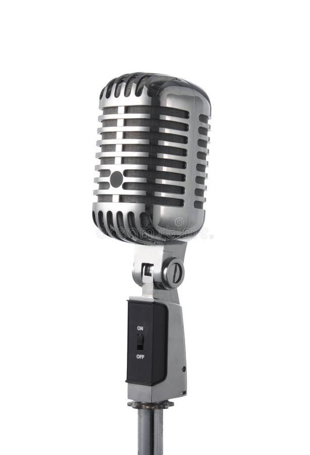 μικρόφωνο αναδρομικό στοκ εικόνα με δικαίωμα ελεύθερης χρήσης