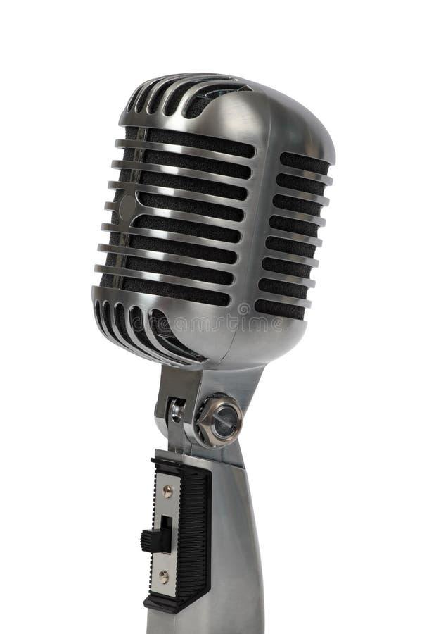 μικρόφωνο αναδρομικό στοκ φωτογραφία